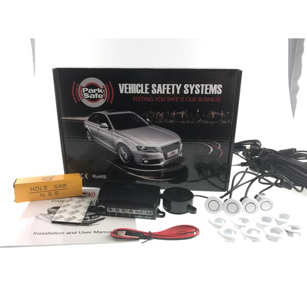 Park Safe Front 4 Eye Parking sensor Kit- With Audible Buzzer Colour White