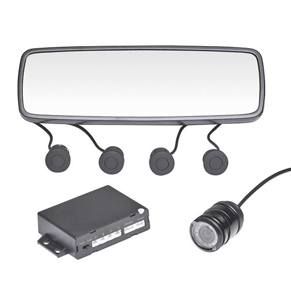 Brees Parking Control Set (4 Sensors) With Rear Camera/Rear Mirror Screen