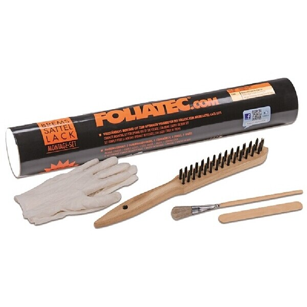 Foliatec Brake Caliper Spare Prep Set (Gloves, Steel Brush, Brush, Stirring-Stick)