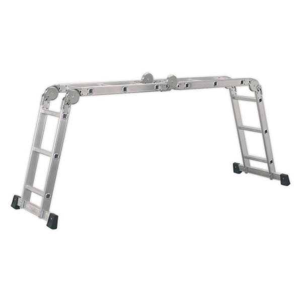 Sealey AFPL1 Aluminium Folding Platform Ladder 4-Way EN131