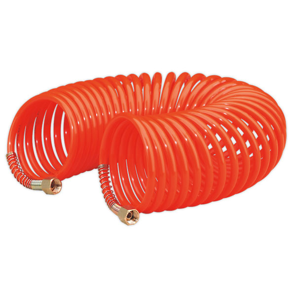 "Sealey AH10C/6 Coiled Air Hose 10mtr x 6mm 1/4""BSP"