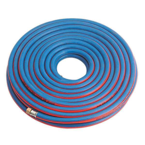 "Sealey AH20R Air Hose 20mtr x 8mm with 1/4""BSP Unions Extra Heavy-Duty"