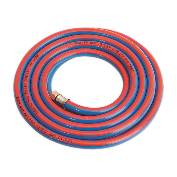 "Sealey AH5R Air Hose 5mtr x 8mm with 1/4""BSP Unions Extra Heavy-Duty"