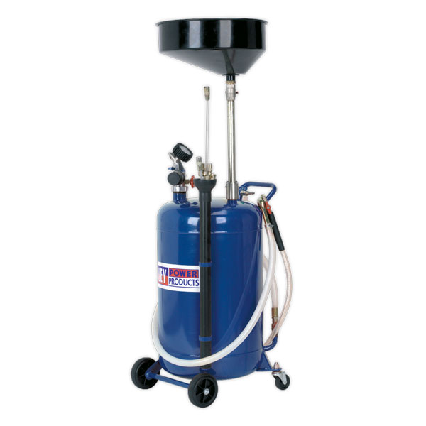 Sealey AK459DX Mobile Oil Drainer with Probes 90ltr Air Discharge