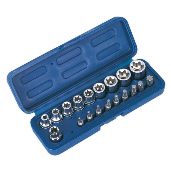 Sealey AK6191 TRX-Star* Socket & Bit Set 19pc
