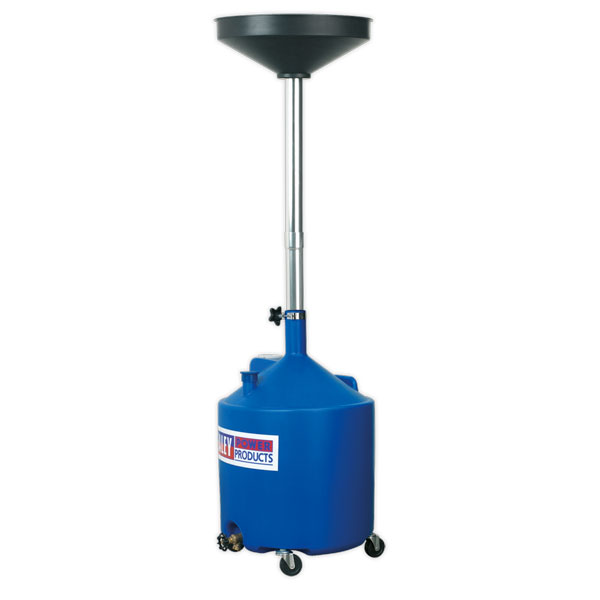 Sealey AK80D Mobile Oil Drainer 80ltr Manual Discharge