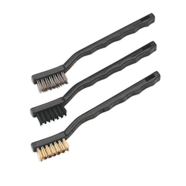 Sealey AK9791 Brush Set 3pc Miniature
