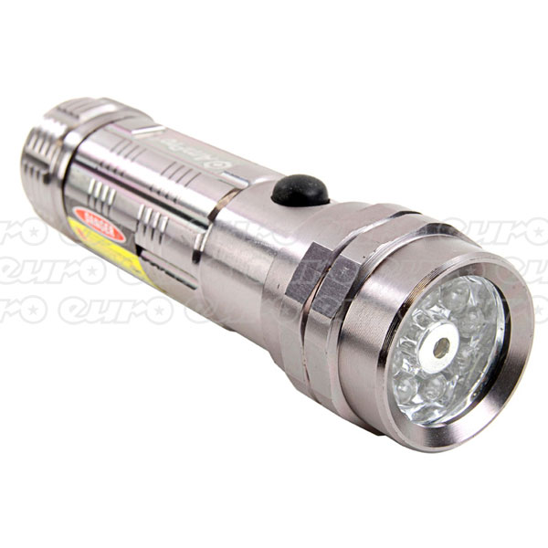 Ampro 8 LED Flashlight with Laser Pointer