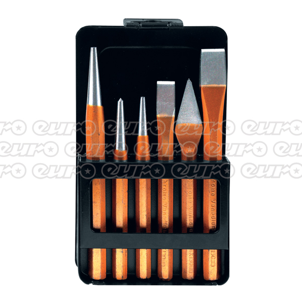 Ampro Punch & Chisel Set  6 Pcs
