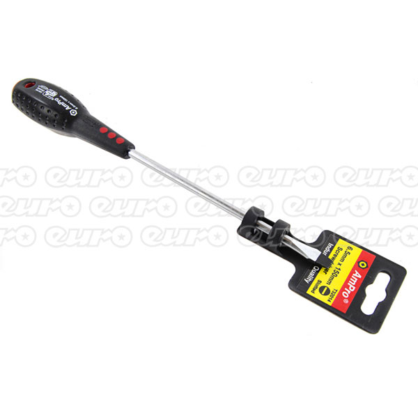 Ampro Slotted Screwdriver 6.5 mm x 150 mm