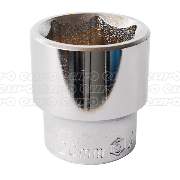 Ampro Socket 6 Pt 3/8 Dr x 20 mm
