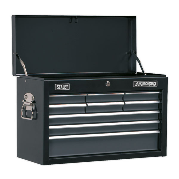Sealey AP2509B Topchest 9 Drawer with Ball Bearing Slides - Black/Grey