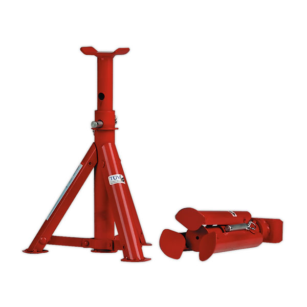 Sealey AS2000F Axle Stands 2ton Capacity per Stand 4ton per Pair Folding Type