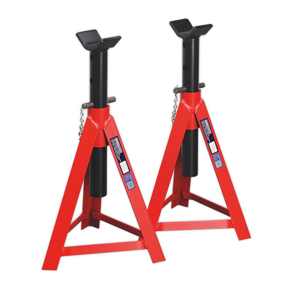Sealey AS5000M Axle Stands 5ton Capacity per Stand 10ton per Pair Medium Size