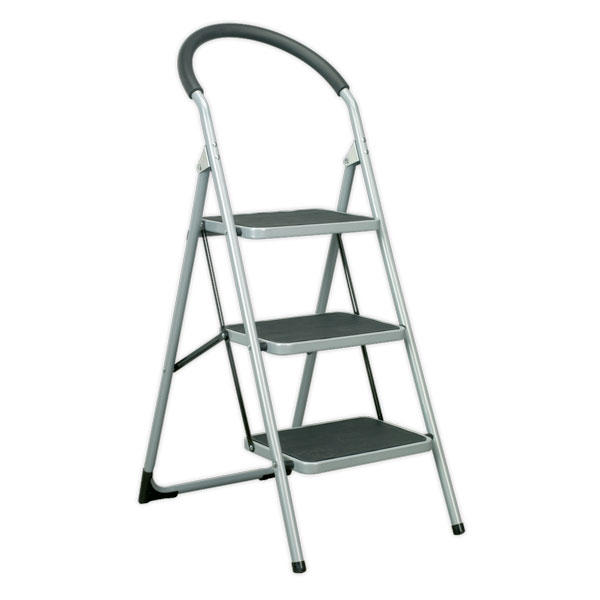 Sealey ASL23 Step Stool 3-Tread 150kg Capacity