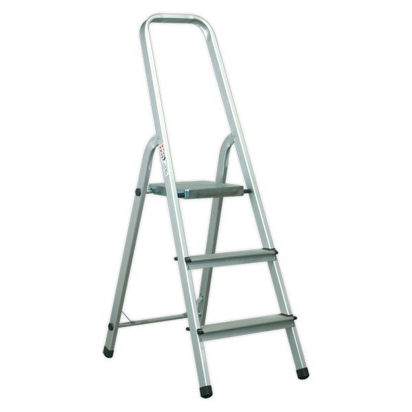 Sealey ASL3S Aluminium Step Ladder 3-Tread EN131