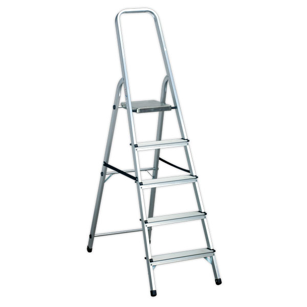 Sealey ASL5 Aluminium Step Ladder 5-Tread EN131