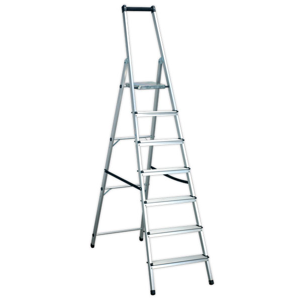 Sealey ASL7 Aluminium Step Ladder 7-Tread EN131