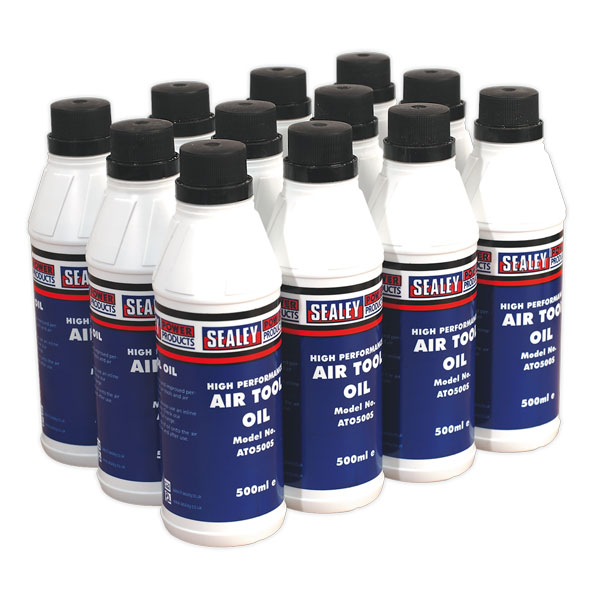 Sealey ATO/500 Air Tool Oil 500ml Pack of 12