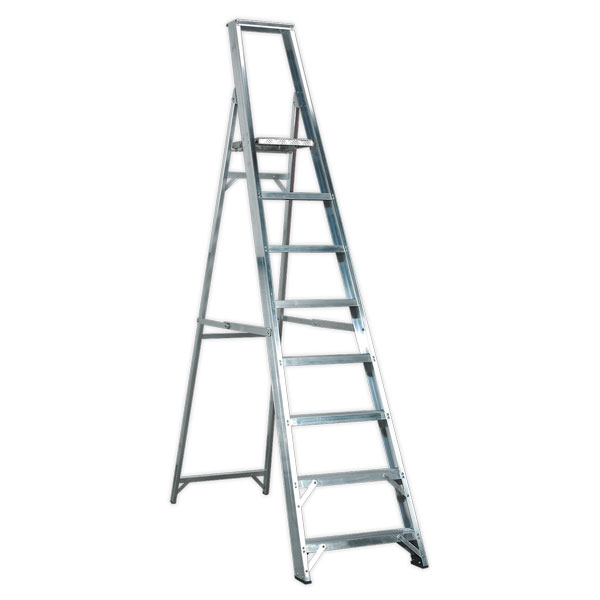 Sealey AXL8 Aluminium Step Ladder 8-Tread Industrial BS2037/1