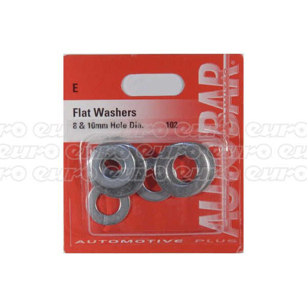 Autobar Flat Washers 8mm & 10mm