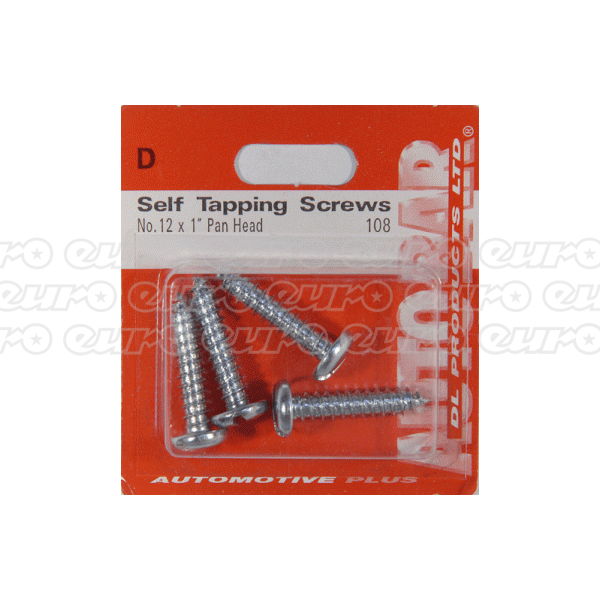"Autobar Self Tappers No.12 x 1"" Length"