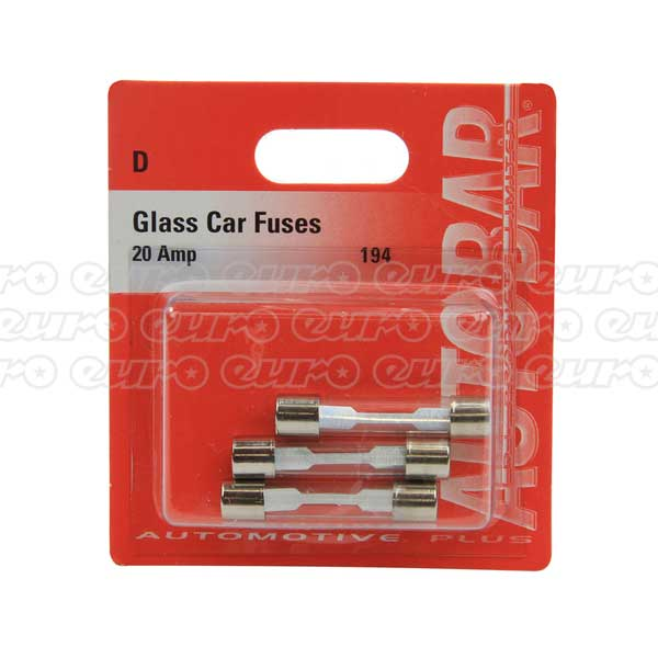 Glass Fuses 20 Amp