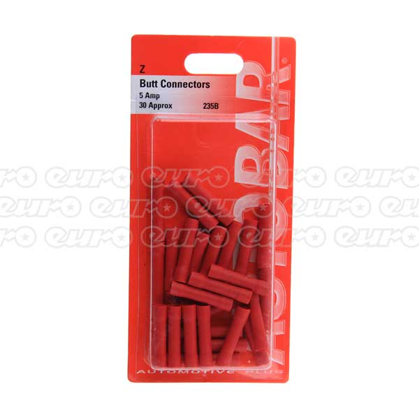 Autobar Butt Connector (6.3mm) Red (PK30)