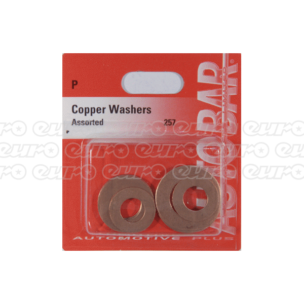 Copper Washers 8,10 & 12mm