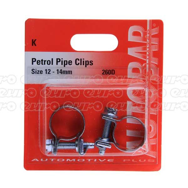Autobar Petrol Pipe Clips 13 - 14mm