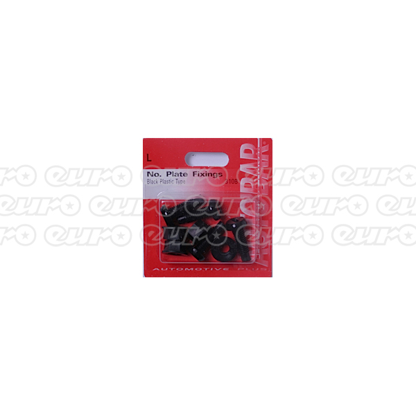 Autobar No. Plate Fixings - Black
