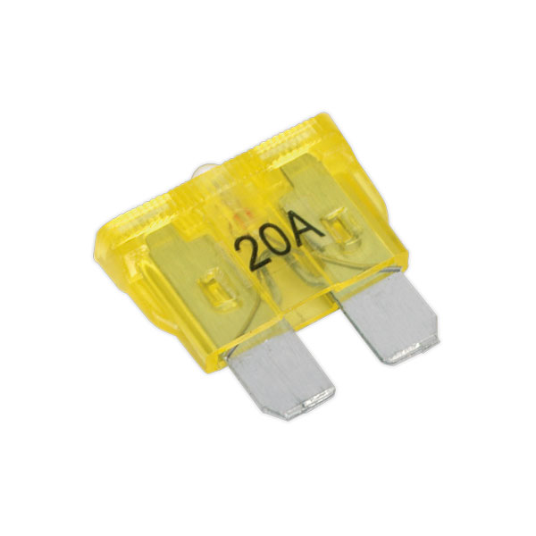 Sealey BCF4220A Automotive Tell-Tale Fuse 20Amp Pack of 7