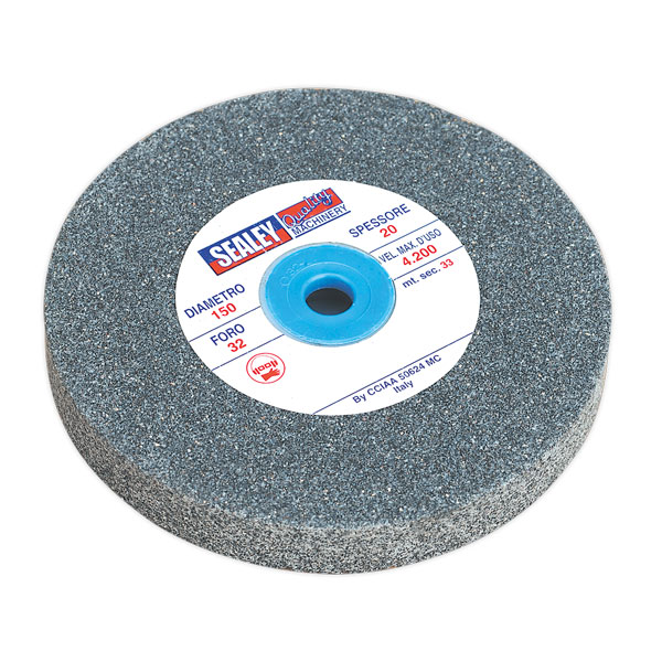 Sealey BG150/16 Grinding Stone 150 x 20mm 32(13)mm Bore A36Q Coarse