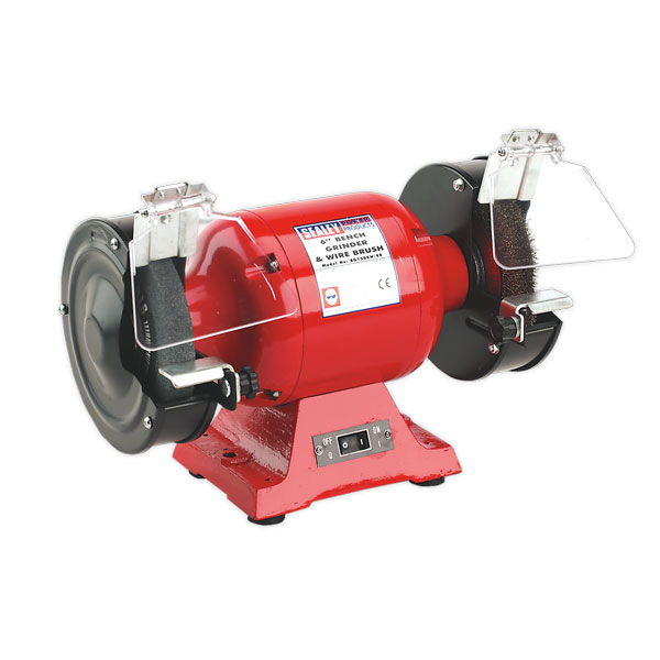 Sealey BG150XW/99 Bench Grinder 150mm with Wire Wheel 450W/230V Heavy-Duty