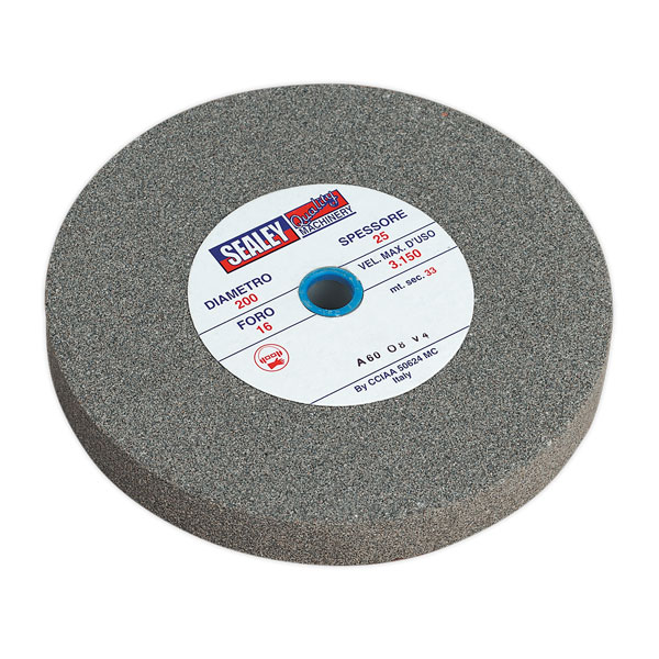 Sealey BG200/15 Grinding Stone 200 x 25 x 16mm A60P Fine
