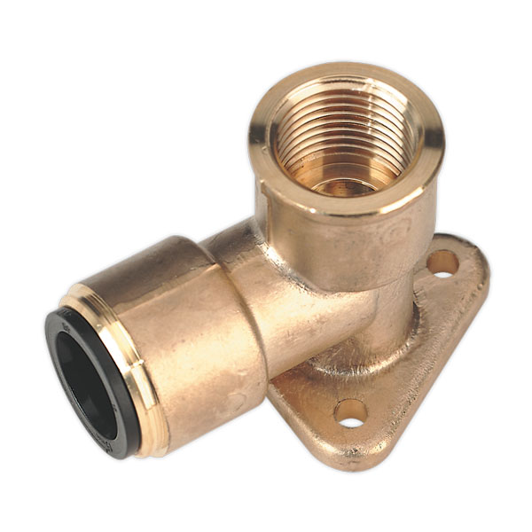 "Sealey CAS22BWE Wingback Elbow 22mm x 3/4""BSP Brass (John Guest Speedfit - PM22WB)"
