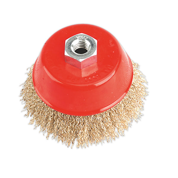 Sealey CBC100 Brassed Steel Cup Brush 100mm M14