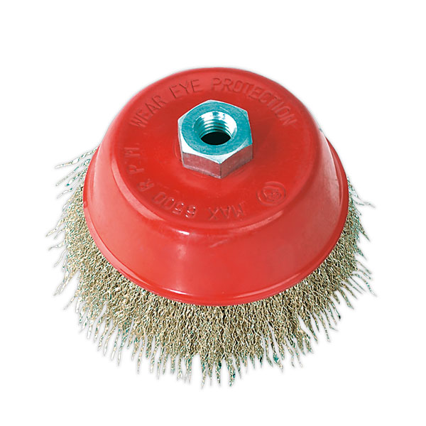 Sealey CBC125 Brassed Steel Cup Brush 125mm M14