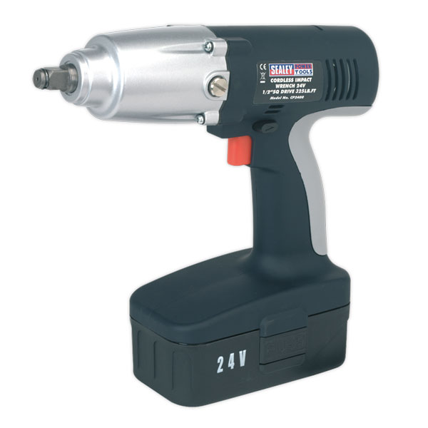 "Sealey CP2400 Cordless Impact Wrench 24V 1/2""Sq Drive 325lb.ft"