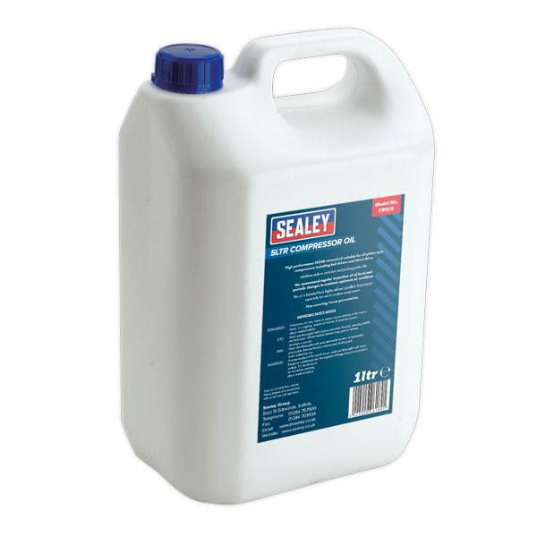 Sealey CPO/5 Compressor Oil 5ltr