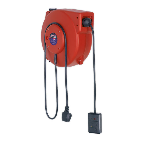 Sealey CRM10 Cable Reel System Retractable 10mtr 1 x 230V Socket