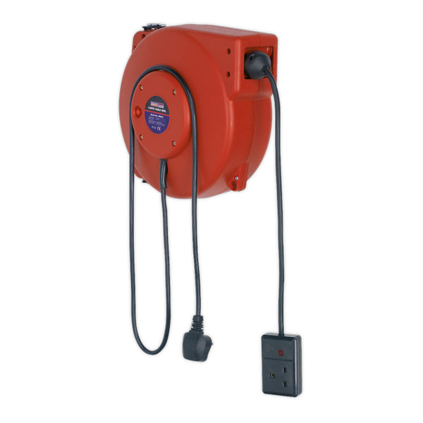 Sealey CRM15 Cable Reel System Retractable 15mtr 1 x 230V Socket