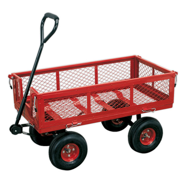 Sealey CST997 Platform Truck with Removable Sides Pneumatic Tyres 200kg Capacity