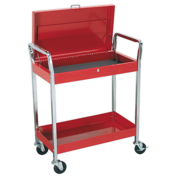 Sealey CX104 Trolley 2-Level Extra Heavy-Duty with Lockable Top