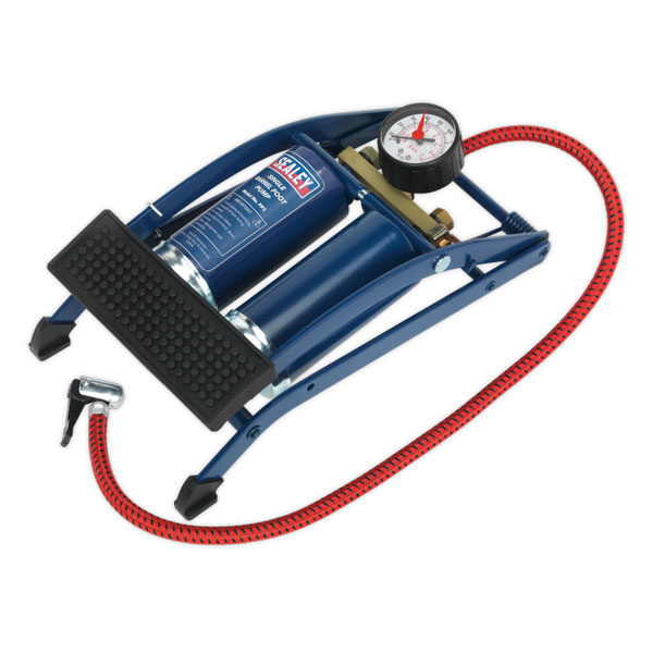 Sealey FP2 Foot Pump Twin Barrel