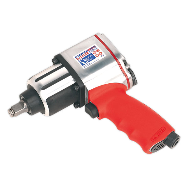 "Sealey GSA02 Air Impact Wrench 1/2""Sq Drive Twin Hammer"