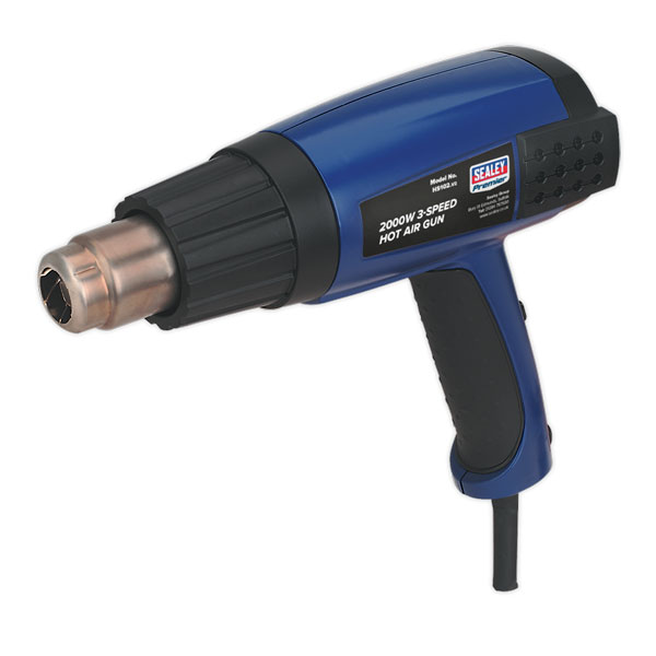 Sealey HS102 Hot Air Gun 2000W 3-Speed 50-600 C Variable Heat