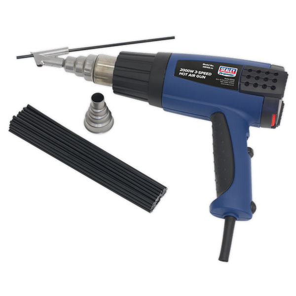 Sealey HS102K Plastic Welding Kit Inc HS102 Hot Air Gun