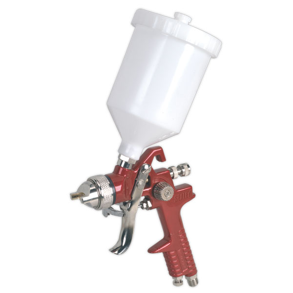 Sealey HVLP741 HVLP Gravity Feed Spray Gun 1.4mm Set-Up
