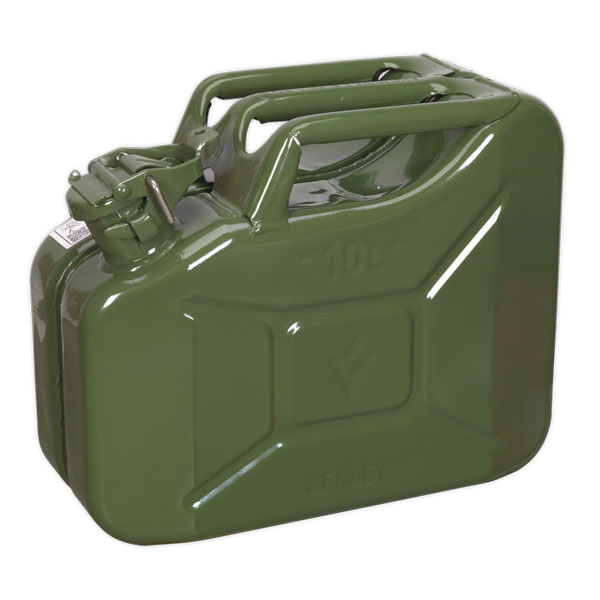 Sealey JC10G Jerry Can 10ltr - Green